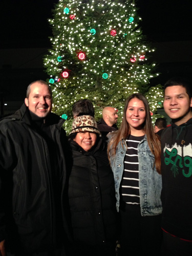 "Eddie, Leticia, Baby Tammy and Master Jack Taylor ""Christmas Tree Lighting at Saddleback Church"""