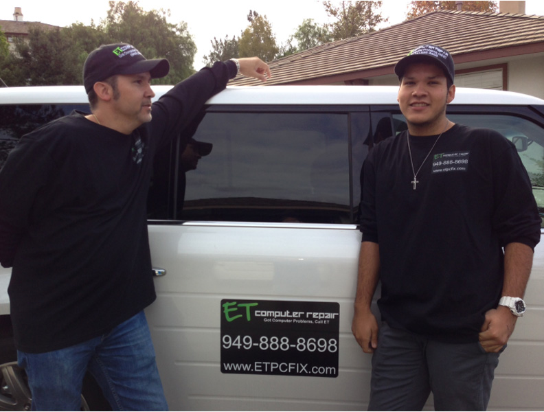 "Master Jack and his dad Eddie Taylor ""Covering Trabuco Canyon with computer repair and support"""