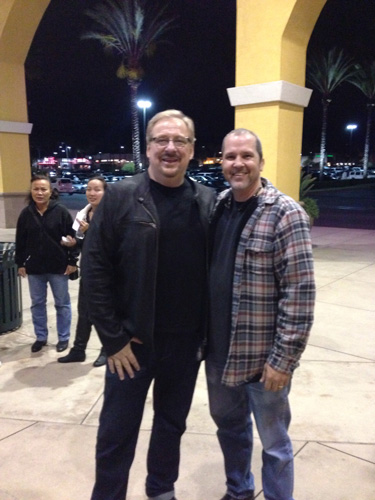 Pastor Rick Warren Founder of Saddleback Church & Eddie Taylor at the pre-opening Son of God Movie 02/27/2014
